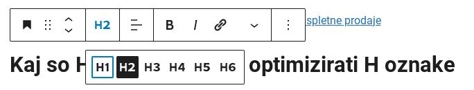 h oznake wordpress