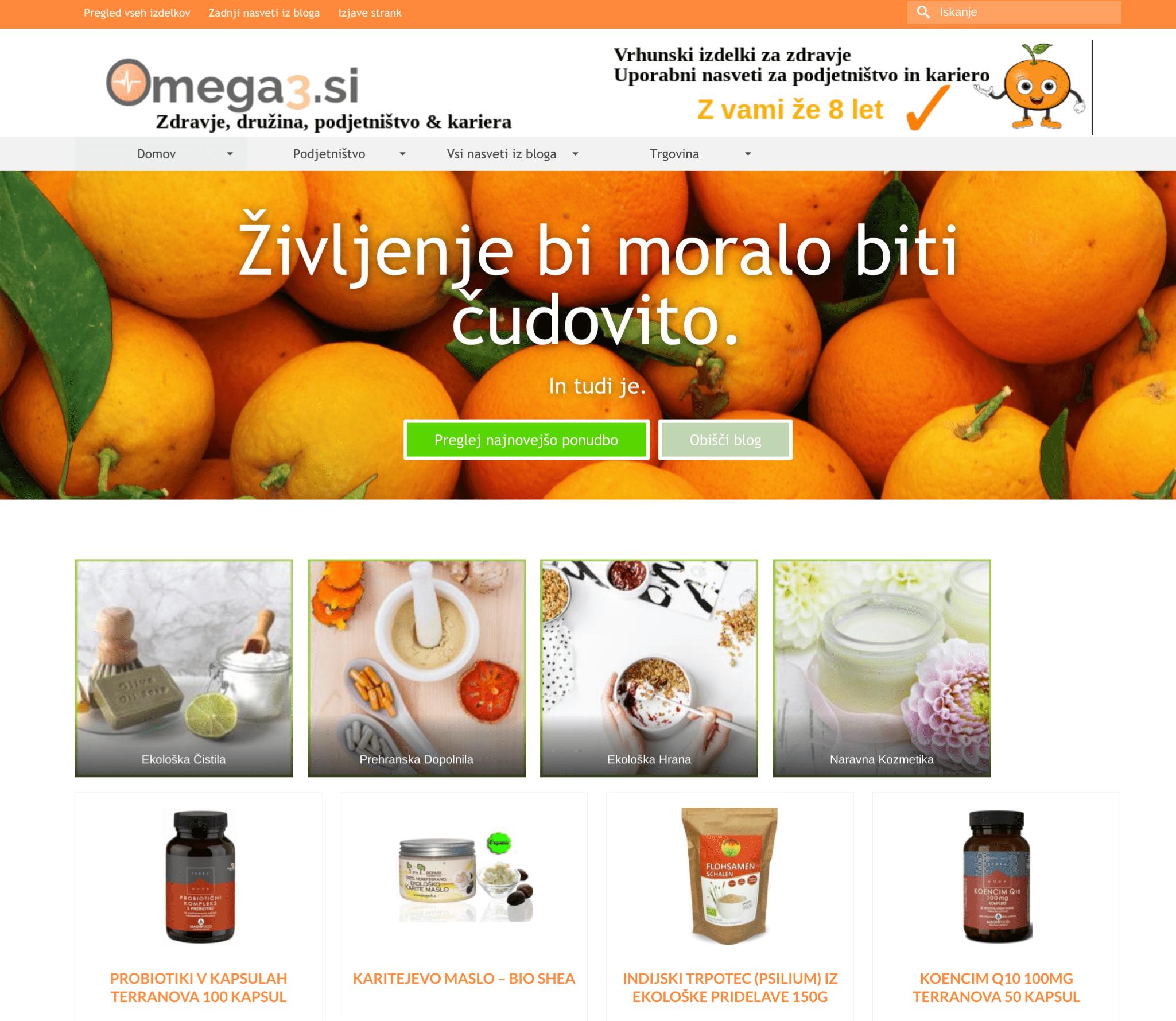 affiliate trgovina omega3.si