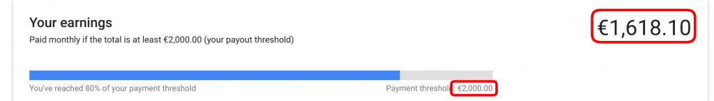 google adsense zaslužek